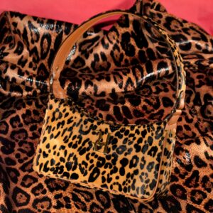 leopard baguette women handbags