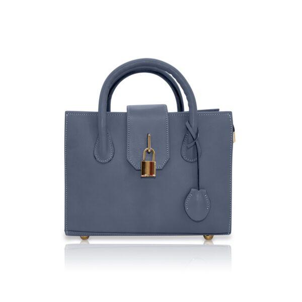 Amethyst Satchel Bag Blue