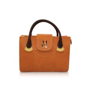 Orange Flecos Baguette Bag
