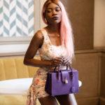 Amethyst Satchel Bag violet